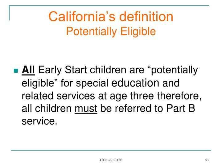 California's definition