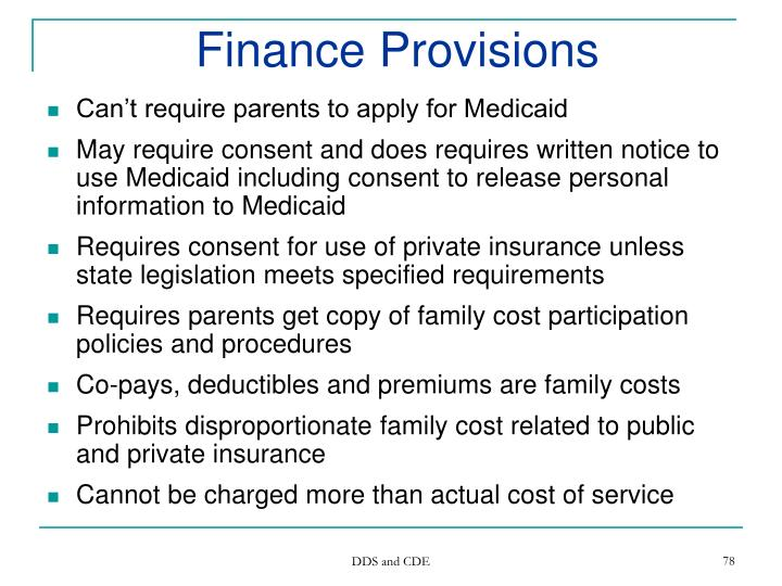 Finance Provisions