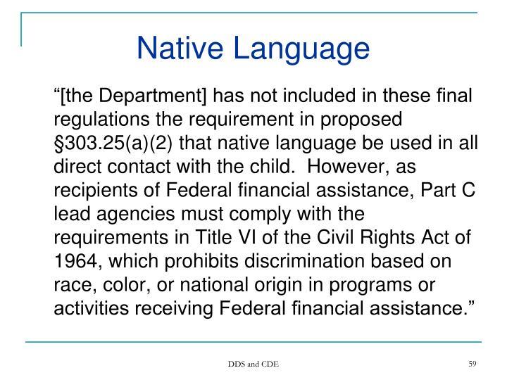 Native Language