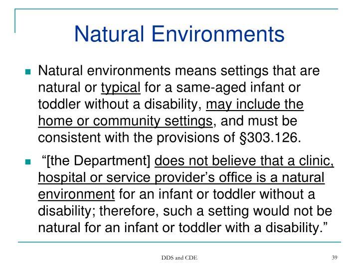 Natural Environments