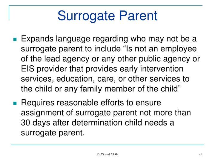 Surrogate Parent