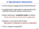 2 specification abstraction