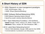 a short history of sdn
