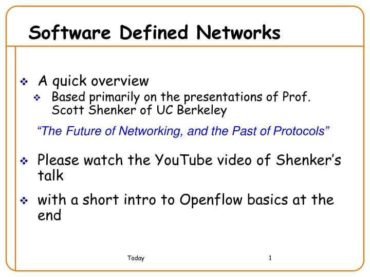software defined networks n.