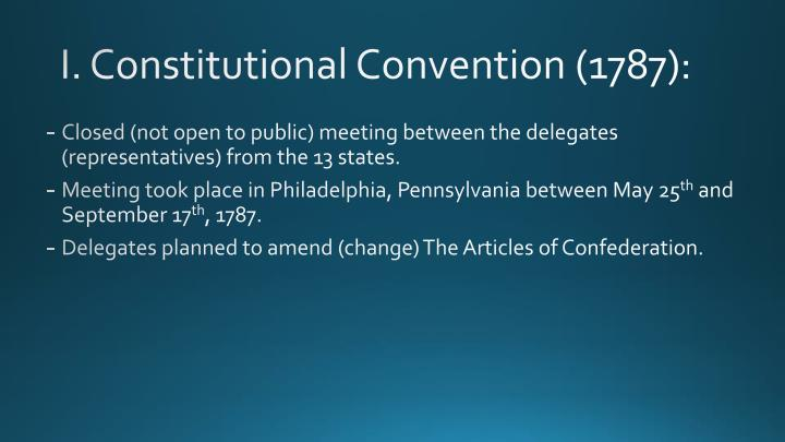i constitutional convention 1787 n.