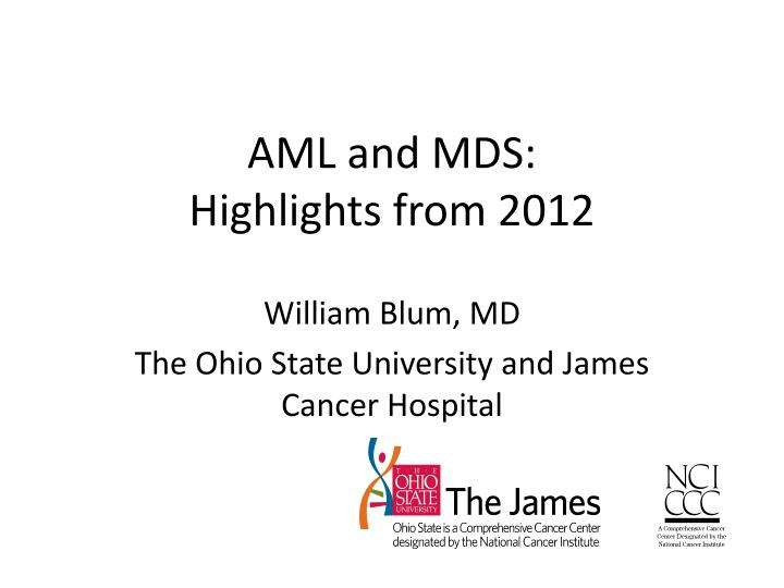 aml and mds highlights from 2012 n.