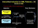 intensified induction in aml patients 60 ecog e1900