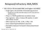relapsed refractory aml mds