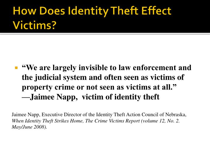 How Does Identity Theft Effect Victims?