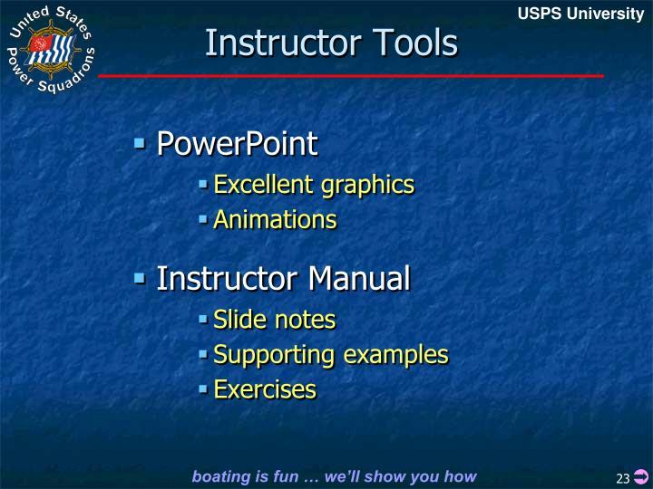 Instructor Tools