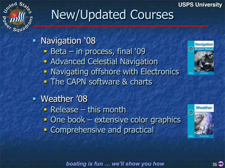 New/Updated Courses