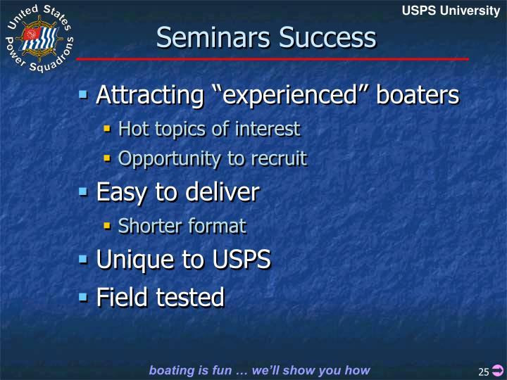 Seminars Success