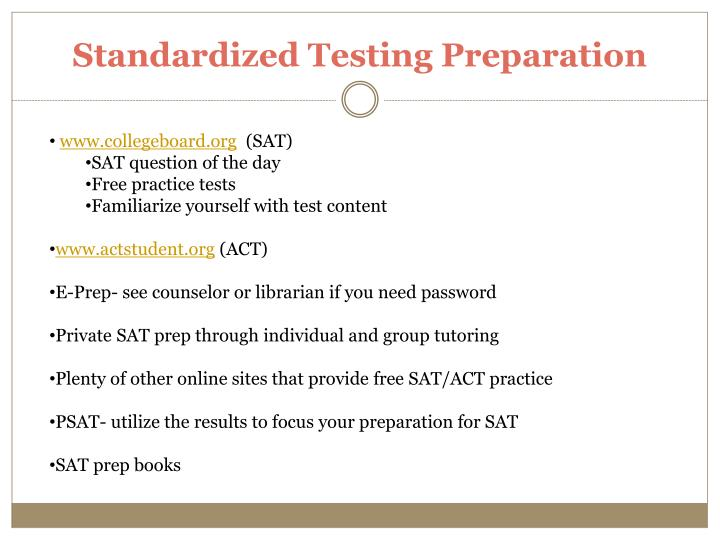 Standardized Testing Preparation