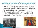 andrew jackson s inauguration
