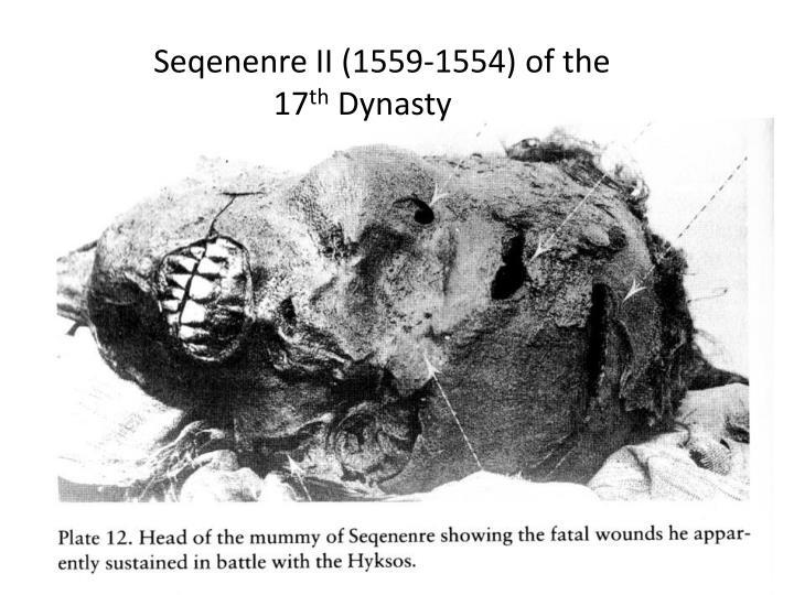 Seqenenre II (1559-1554) of the