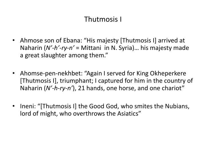 Thutmosis I
