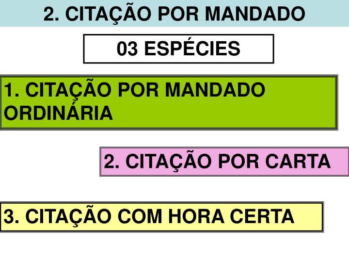 2. CITAÇÃO POR MANDADO