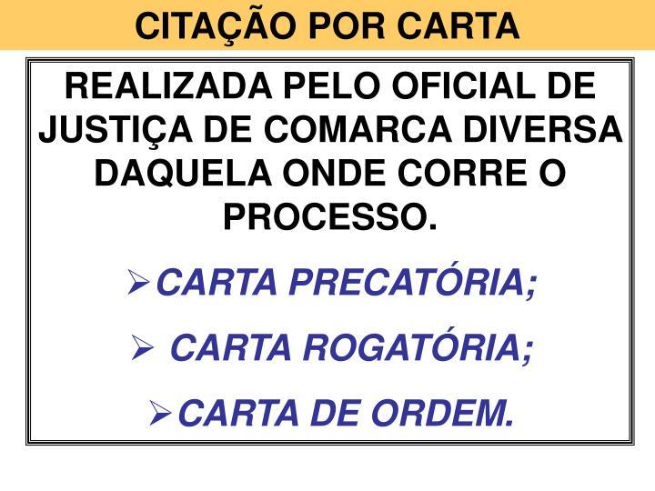 CITAÇÃO POR CARTA