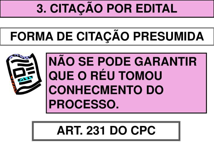 3. CITAÇÃO POR EDITAL