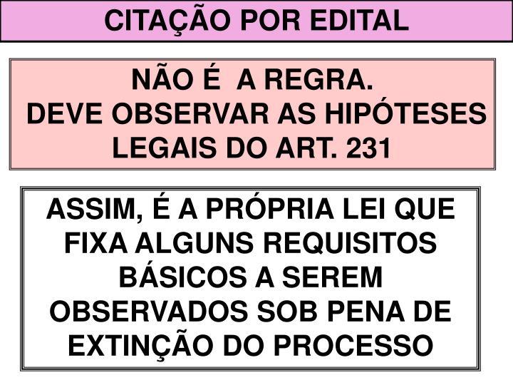 CITAÇÃO POR EDITAL