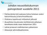 johdon neuvottelukunnan painopisteet vuodelle 2011