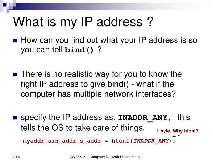What is my IP address ?