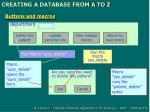creating a database from a to z14