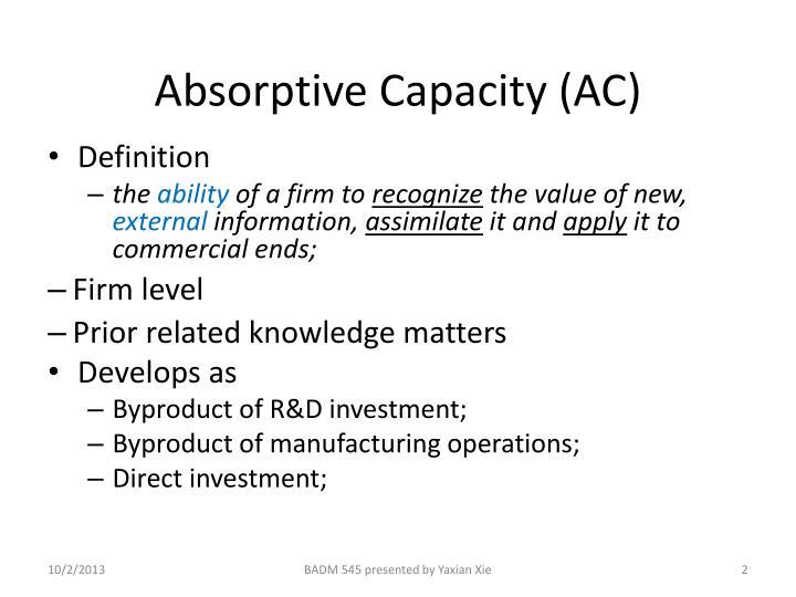 Absorptive capacity ac