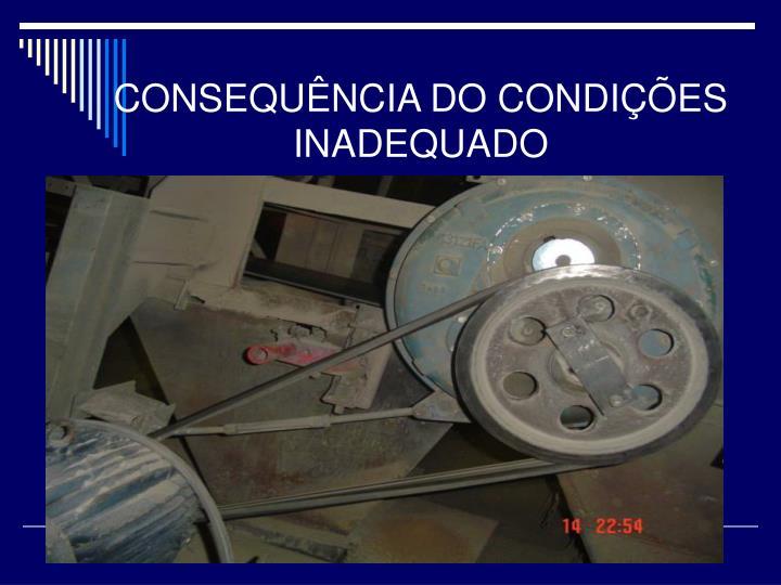 CONSEQUÊNCIA DO CONDIÇÕES INADEQUADO