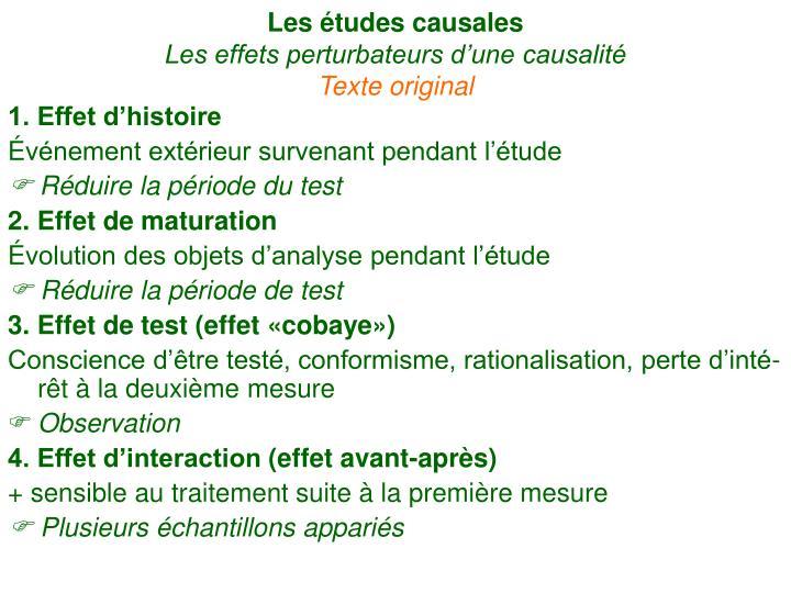 Les études causales