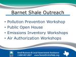 barnet shale outreach