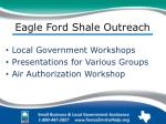 eagle ford shale outreach