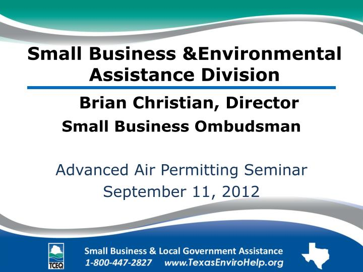small business environmental assistance division n.
