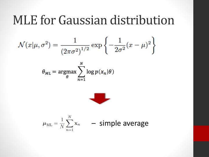 MLE for Gaussian distribution