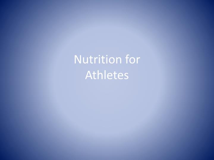 nutrition for athletes n.