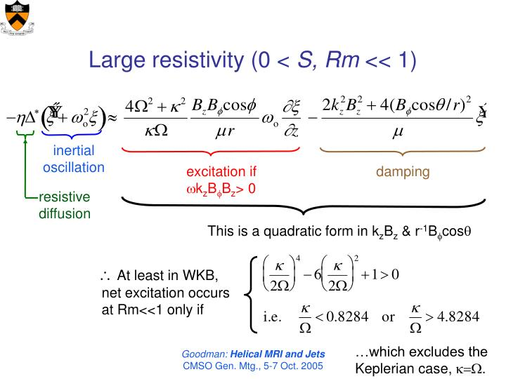 Large resistivity (0 <