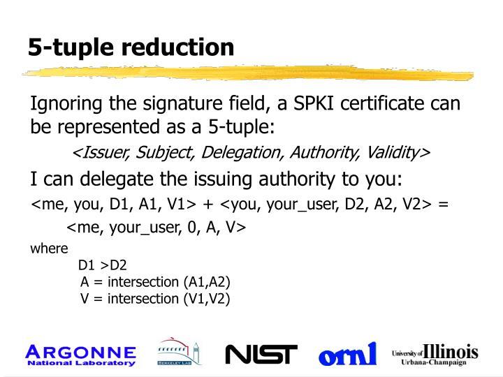 5-tuple reduction