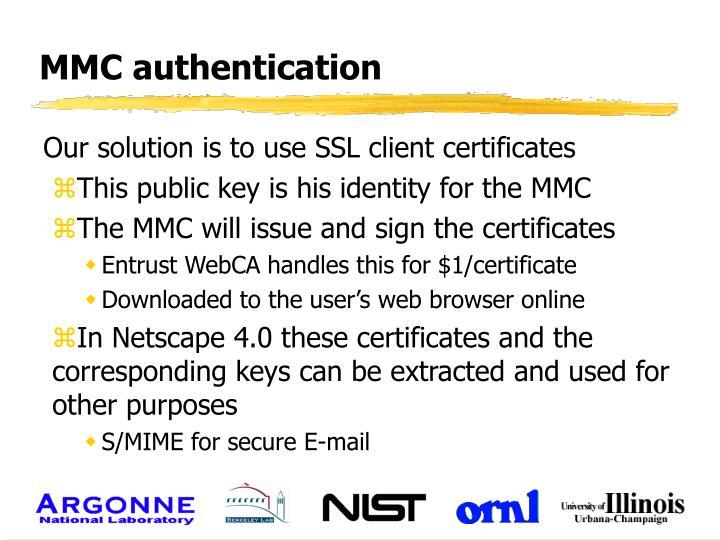 MMC authentication