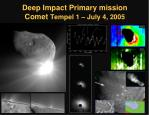 deep impact primary mission comet tempel 1 july 4 2005