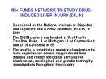 nih funds network to study drug induced liver injury dilin