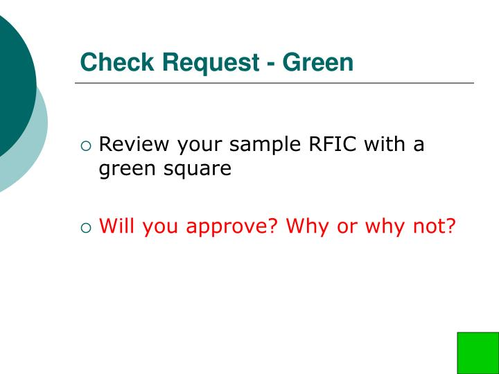 Check Request - Green