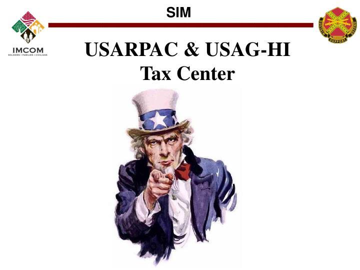 USARPAC & USAG-HI Tax Center