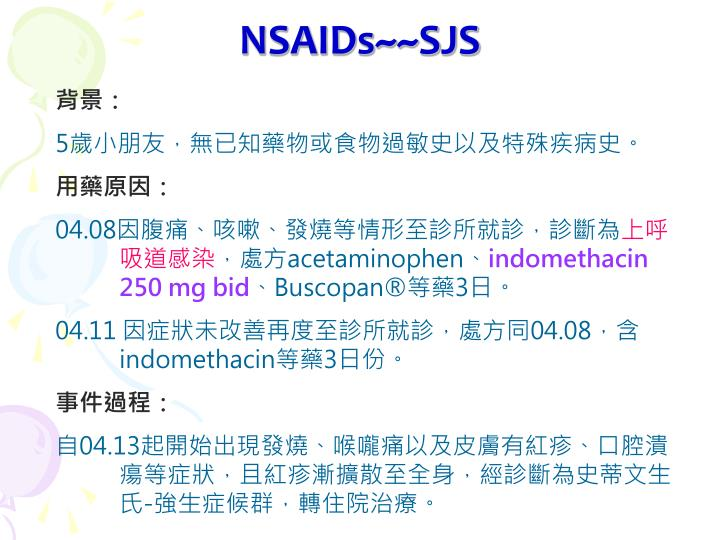 NSAIDs~~SJS
