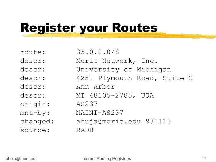 Register your Routes