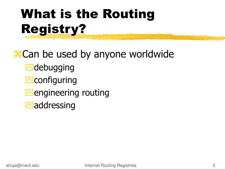 What is the routing registry1