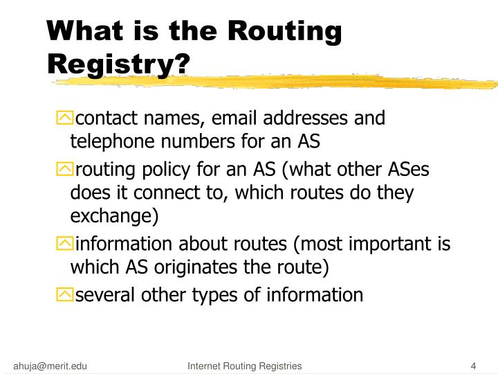 What is the Routing Registry?