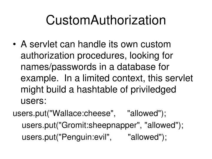 CustomAuthorization