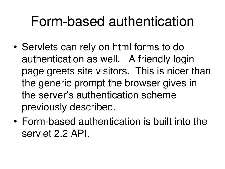 Form-based authentication