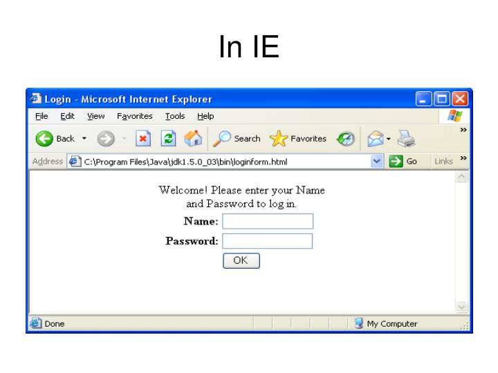In IE
