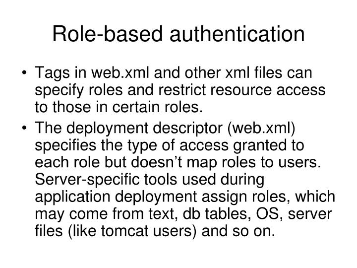 Role-based authentication